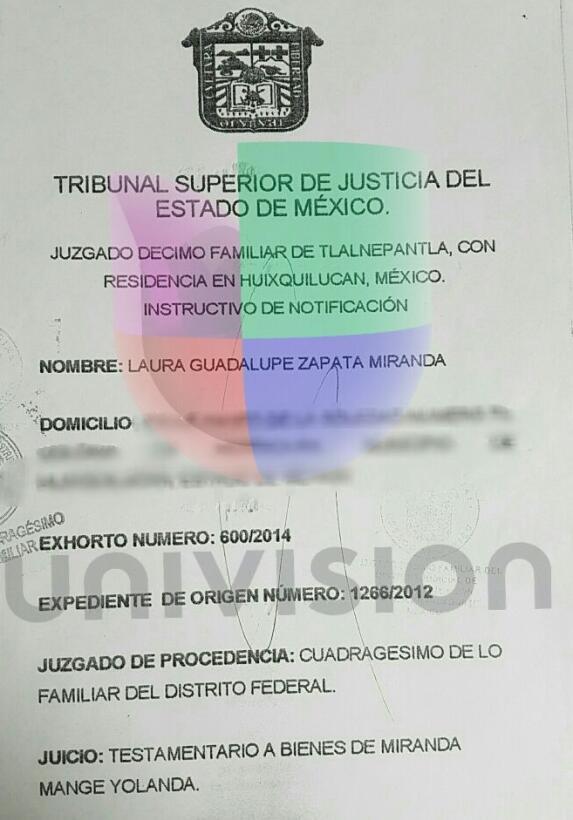 La demanda de sucesión testamentaria inciada por Laura Zapata
