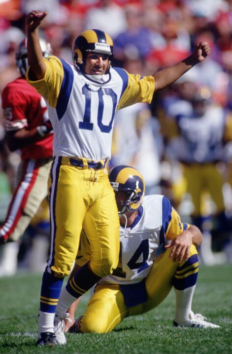 Tony Zendejas, pateador mexicano jugó para Los Angeles Rams en 1992