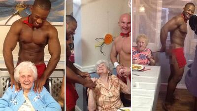 Anciana celebra su cumpleaños #89 con todo y strippers