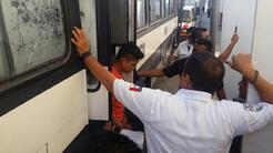 Más de cien migrantes fueron rescatados en condiciones deplorables