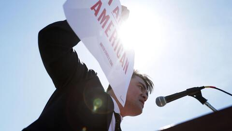 Activist Jose Antonio Vargas supports dreamers during a 2016 protest in...