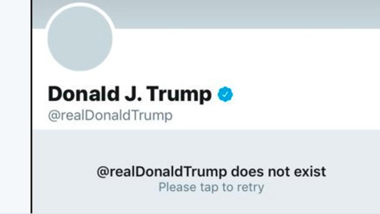 Durante 11 minutos Trump no tuvo cuenta en Twitter.