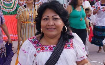 La precandidata a dipitada local, Antonia Jaimes Moctezuma.
