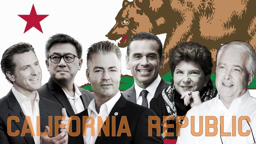 Candidatos a la gobernación de California