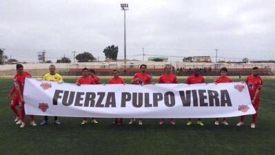 Los jugadores del Nublense de Chile mandan mensaje a Viera.
