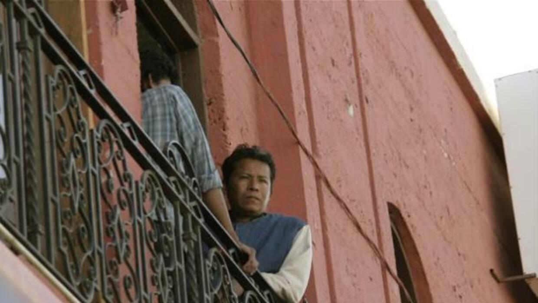 El Hotel Centenario, ahora Hotel Migrante, en Mexicali, Baja California....
