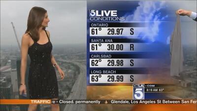 Meteoróloga fue obligada a ponerse un suéter en pleno segmento del tiempo