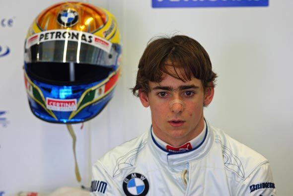 Gutiérrez ya trabajó con el equipo durante la temporada 2010 como piloto...