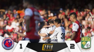 ¡Arponazo! Un gol del 'Rifle' le da la victoria a León sobre Veracruz y el descenso arde