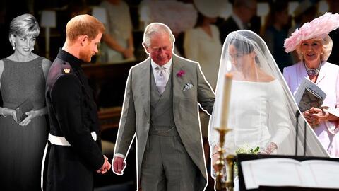 Príncipe Carlos en la boda de su hijo, el príncipe Harry y Meghan Markle