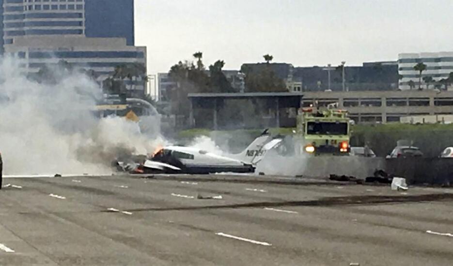 Accidente en la autopista 405
