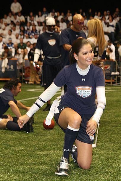 Ana Patricia confesó que nunca antes había jugado fútbol americano, pero...