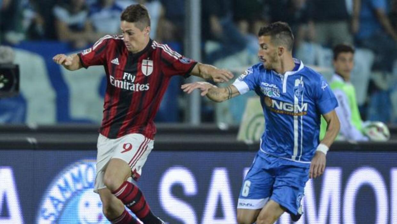 Fernando Torres se estrenó como golador rossonero.