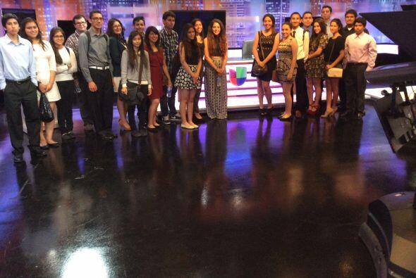 Gira de Junior Achievement en Univision Los Ángeles.