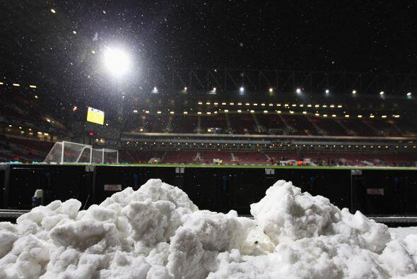 El clima invernal quedó más que de manifiesto en suelo inglés.