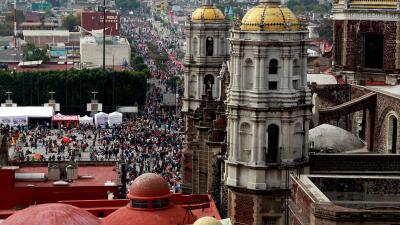 Vista aérea de la Basílica de Guadalupe en México.