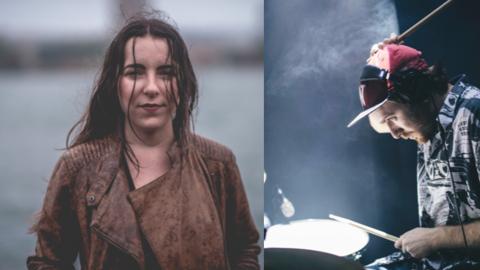 Los músicos y productores Luisa Torrealba y Nico Ejchenbaun.