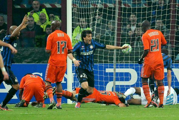 El argentino Diego Milito marcó el primer del partido. Inter le gana 1 a...