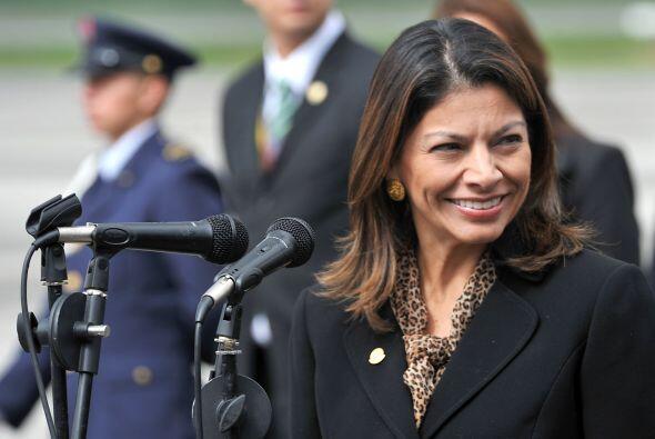 La lista incluye otra mandataria latinoamericana, Laura Chinchilla, pres...