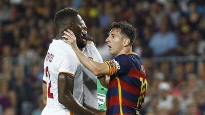 Leo Messi se podría volver a ver las caras con Mapou Yanga-Mbiwa de la Roma