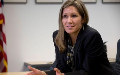 Amanda Rentería se postula como aspirante a la gobernación...