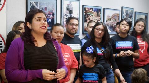 La dreamer Astrid Silva acompañó a varios activistas en Ne...