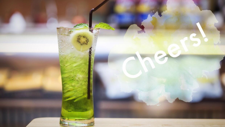 Soda con jugo de kiwi