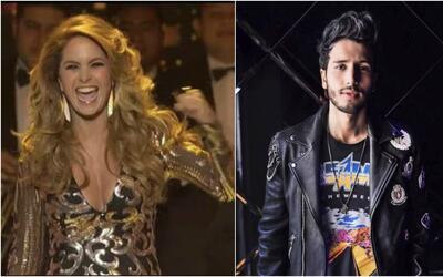 Lucero y Sebastián Yatra en los Premios TVyNovelas 2018.