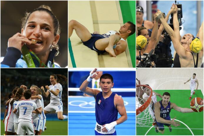 Argentina con su primera medalla de Oro, gimnasta francés tiene accident...