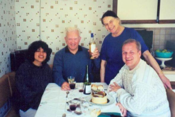 En su casa de Francia compartió con sus padres y su alumna más cercana,...
