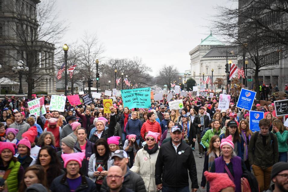 Cientos de miles de manifestantes llenan la calle durante la Marcha de l...