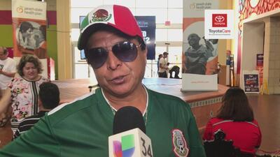 Mexicanos festejan el triunfo contra Alemania