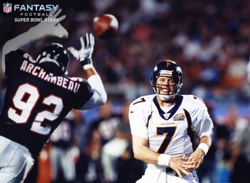 Los 10 jugadores con más puntos de fantasy en la historia del Super Bowl...