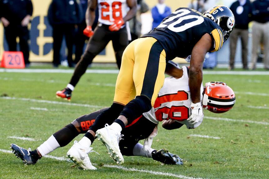 Los Pittsburgh Steelers derrotaron 30-9 a los Cleveland Browns en la sem...