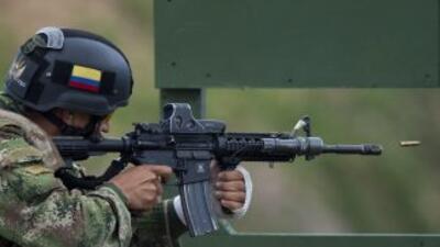 La grabación deja ver a cuatro soldados pertenecientes al Batallón de In...