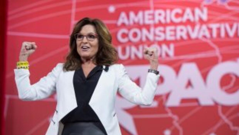 Sarah Palin durante un evento de laConservative Political Action Confer...