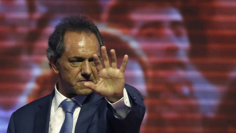 Daniel Scioli, candidato presidencial del peronismo en Argentina