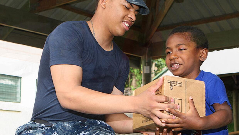 Teaching kids to donate to charity