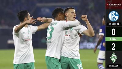 Werder Bremen vence a domicilio al Schalke 04 y acecha el liderato del BVB