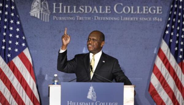 Herman Caine, excandidato a la nominación presidencial republican...