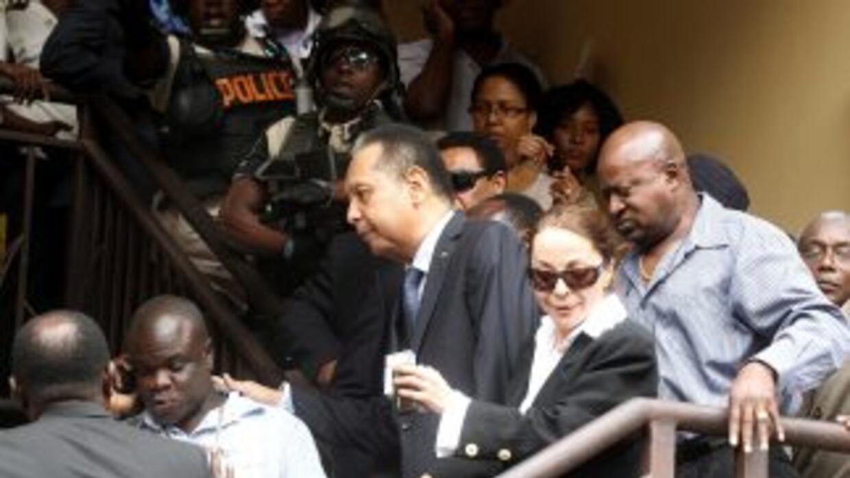 La policía haitiana tomo custodia de Jean-Claude Duvalier, el antiguo d...