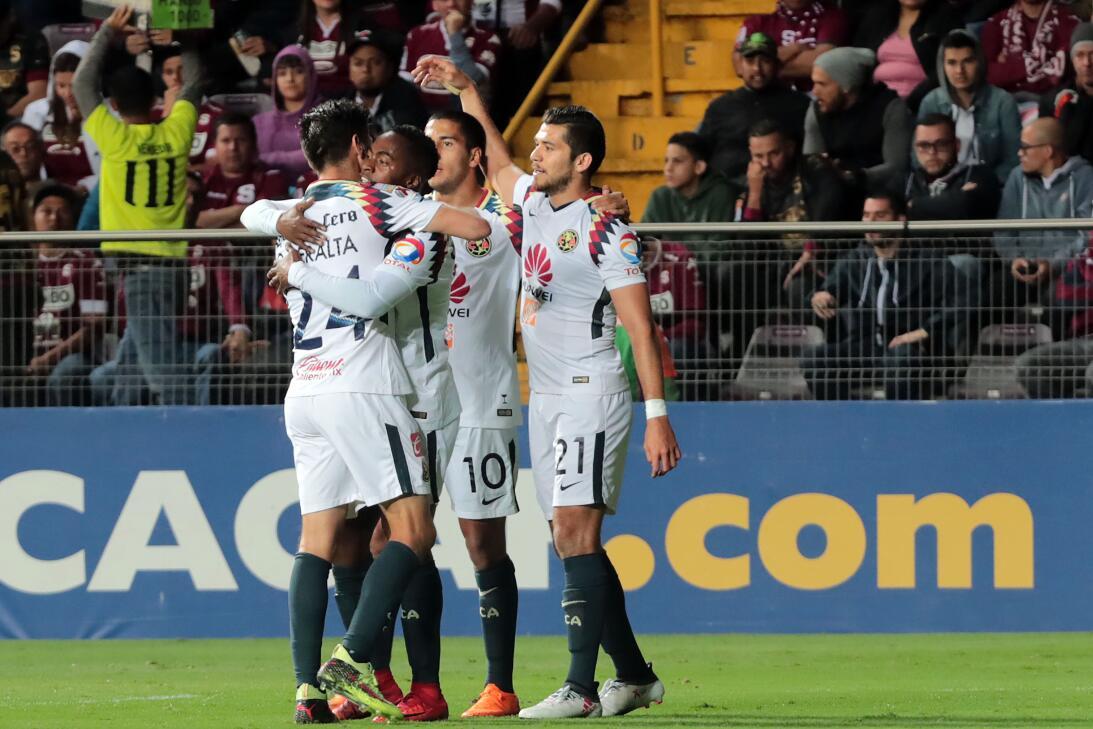 América mostró categoría y goleó 1-5 al Saprissa en San José 20180221-67...