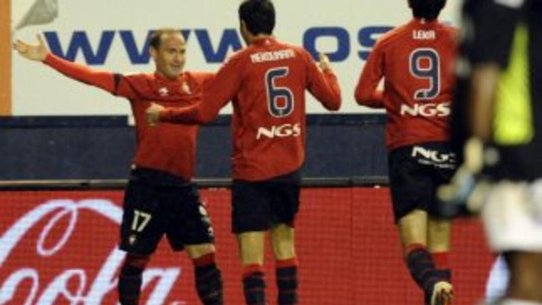 Nino hizo el primer gol del Osasuna.