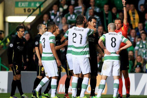 Celtic sufría la expulsión de Brown y tenía que jugar con 10 hombres des...