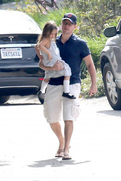 Matt Damon llevó a todos sus hijos al baby shower de Elsa Pataky y Chris...