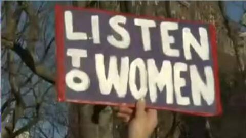 Cientos de mujeres se unieron al movimiento 'Un día sin mujeres' en el B...