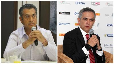 Jaime Rodríguez Calderón y Miguel Ángel Mancera