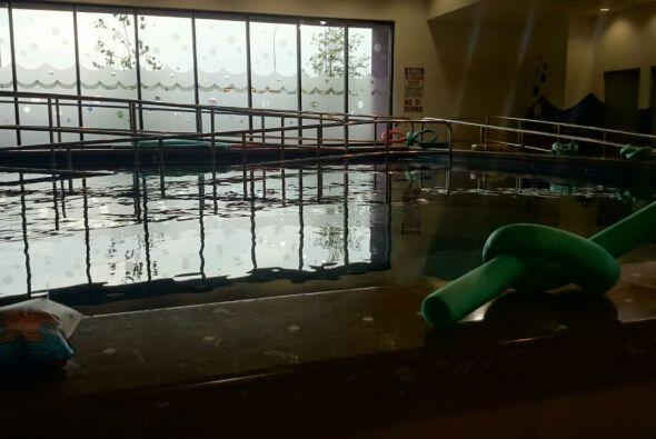 En la piscina, los niños que asisten al CRIT USA reciben hidroterapia en...