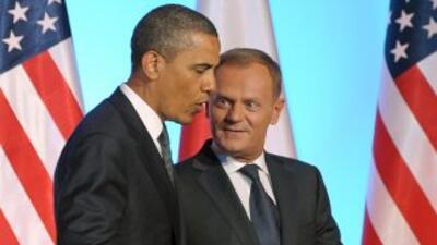 El Presidente de Estados Unidos, Barack Obama, junto al Primer Ministro...