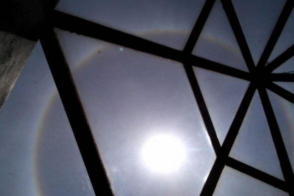 Un impresionante Halo Solar sorprendió a los residentes de la Ciudad de...